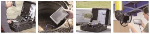 先端可動型配管検査カメラ TA417XG 使用例
