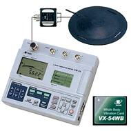 3軸振動計 + 全身振動測定カード(VM-54、VX-WB)